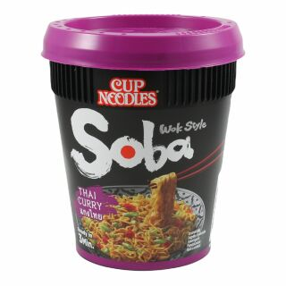 Thai Curry Soba Nudeln im Becher Nissin 87g