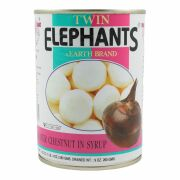 Twin Elephants Wasserkastanien in Sirup 260g
