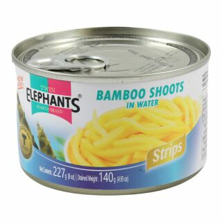Twin Elephants Bamboo shoots in Slices 140g