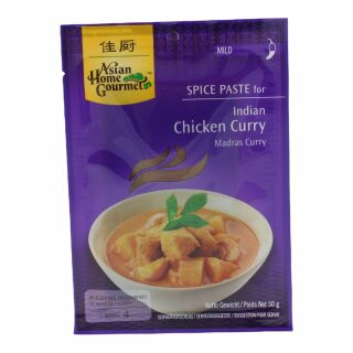 Asian Home Gourmet Madras Curry Paste 50g