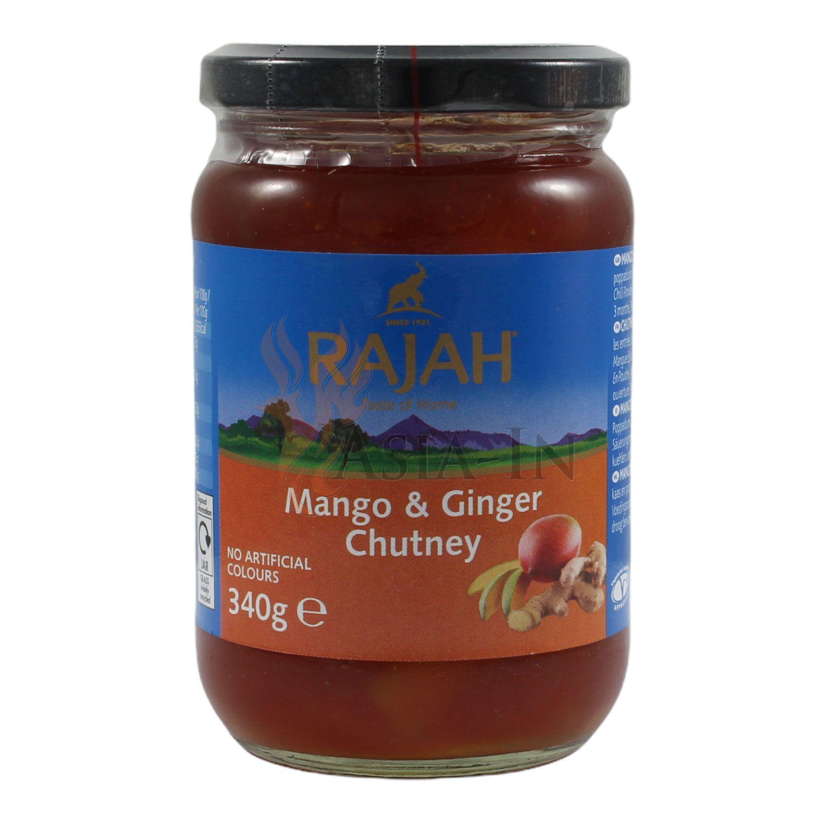 Mango & Ginger Chutney, Rajah 285g
