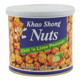 Khao Shong Peanuts with Chilli and Lime 140g