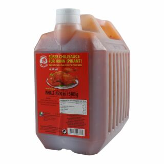 Sweet Chilli Sauce, Süße Chili Sauce, Kanister, COCK 4500ml / 5400g