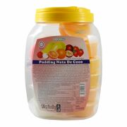 Fruit Mix Pudding, Dessert with Coconut Gel Nata de Coco,...
