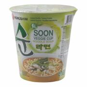 Nong Shim Vegetable, SOON  Instant Noodle Soup In Cup 65g